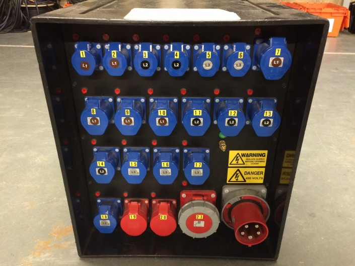 125 Amp 3 phase distro